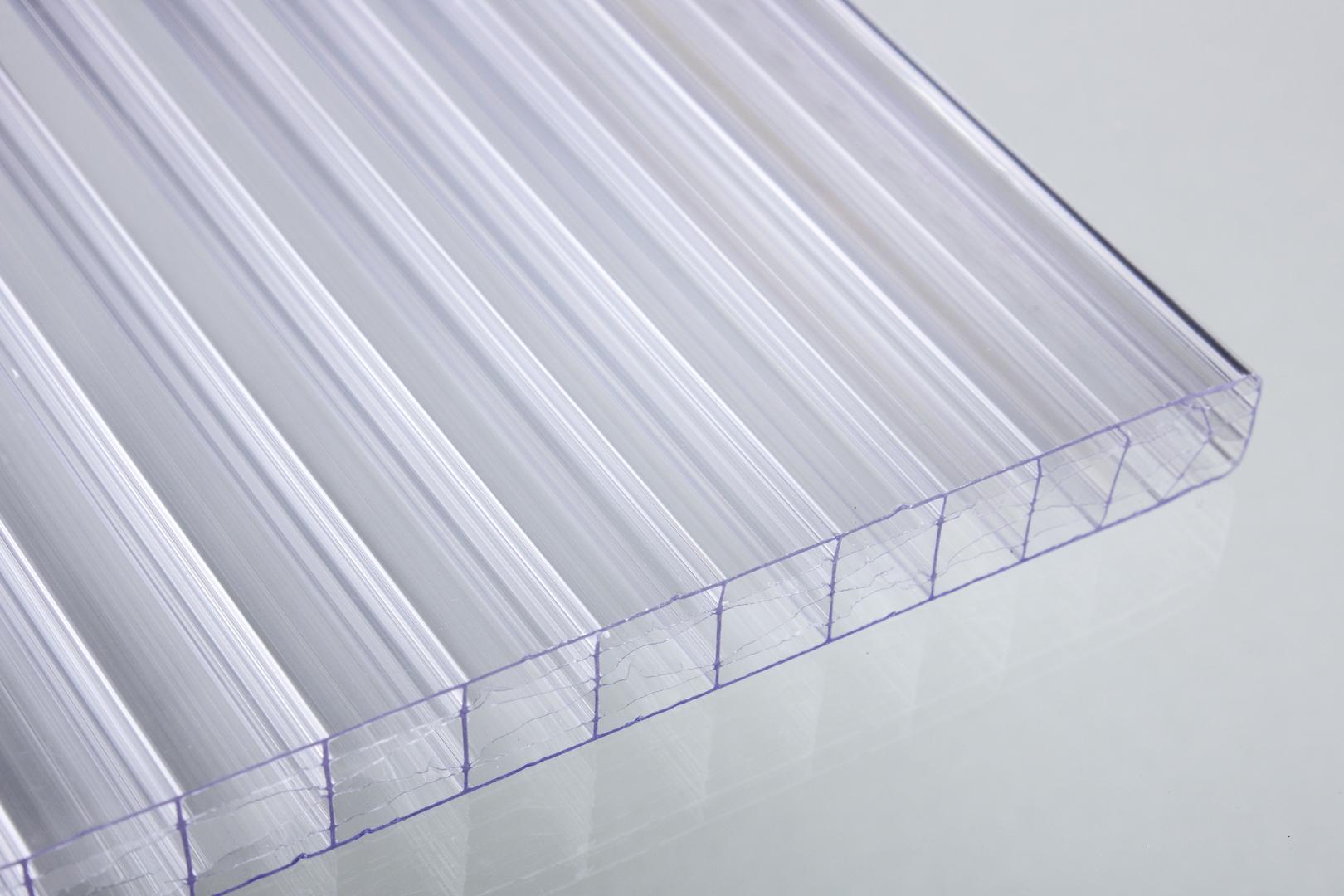 16 mm stegdreifachplatten glashell x struktur online kaufen dachplatten shop. Black Bedroom Furniture Sets. Home Design Ideas